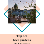 Best beer gardens in Glasgow