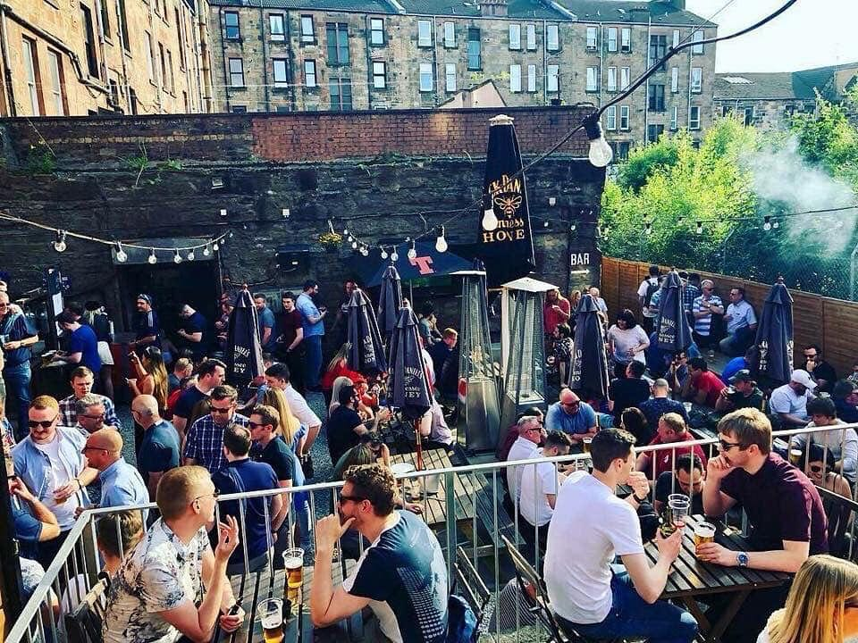 The Record Factory beer garden Byres Road Glasgow